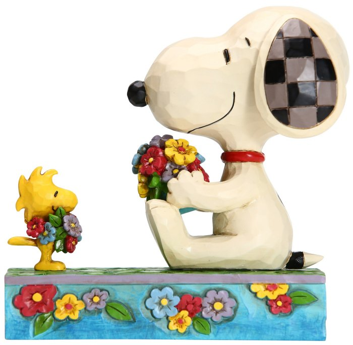 Jim Shore Peanuts 6005946N Snoopy Woodstock Spring Figurine