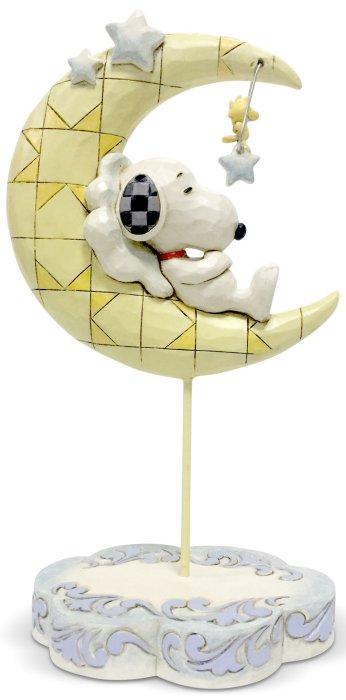 Jim Shore Peanuts 6005947 Snoopy and Woodstock Moon Figurine