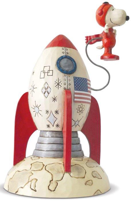 Jim Shore Peanuts 6005948 Snoopy Astronaut Figurine