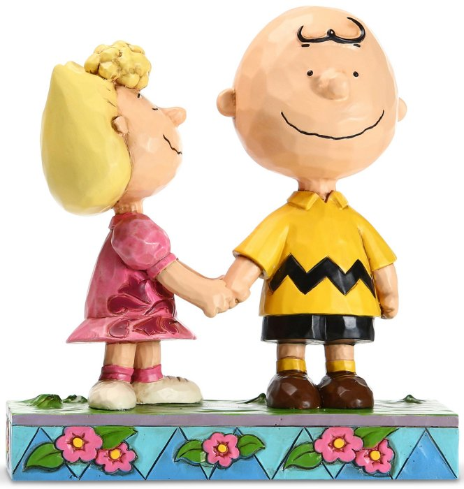 Jim Shore Peanuts 6005949N Charlie Brown and Sally Figurine