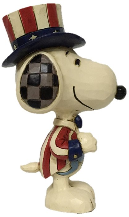 Jim Shore Peanuts 6005951N Mini Snoopy Patriotic Figurine