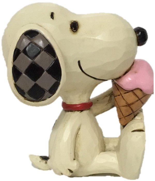 Jim Shore Peanuts 6005953N Mini Snoopy Ice Cream Figurine
