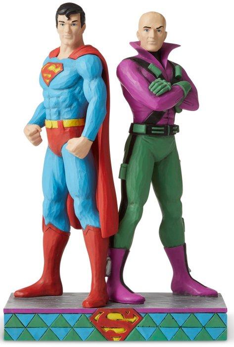 Jim Shore DC Comics 6005981 Superman and Lex Luthor Figurine