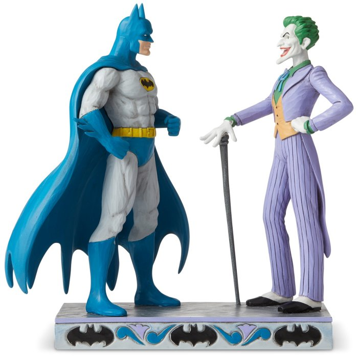 Jim Shore DC Comics 6005982 Batman and Joker Figurine