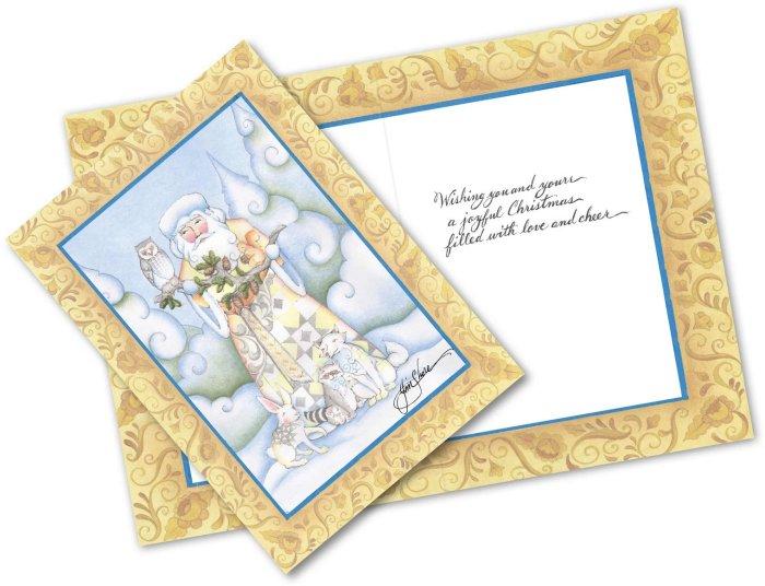 Jim Shore 6006185 Greeting Card Woodland Santa