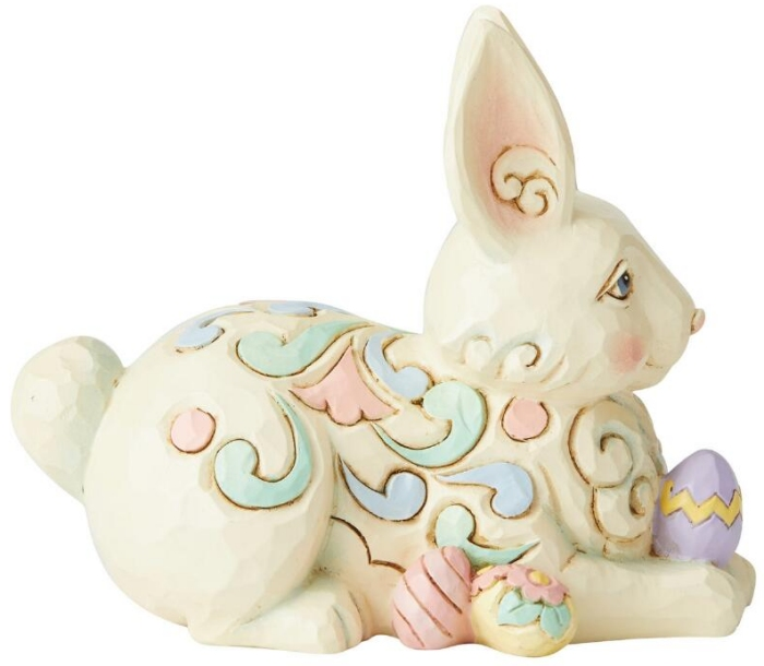 Jim Shore 6006228N Bunny with Easter Egg Figurine