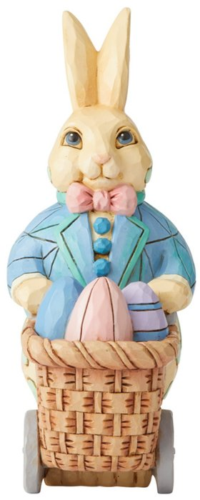 Jim Shore 6006230 Bunny Pushing Easter Figurine