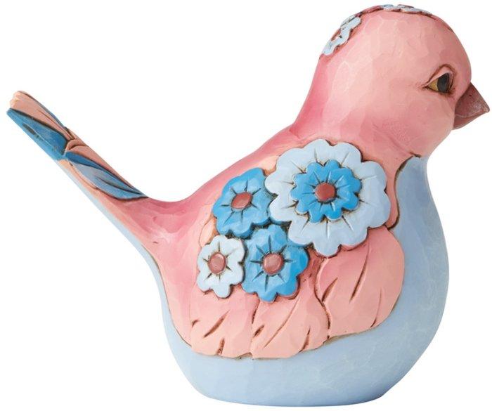 Jim Shore 6006234 Mauve and Blue Bird Figurine