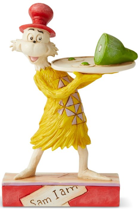 Jim Shore Dr Seuss 6006240N Sam Holding Green Eggs Figurine