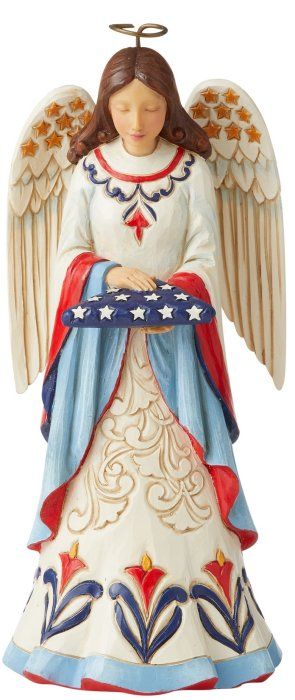 Jim Shore 6006440 Angel Holding Folded Flag Figurine