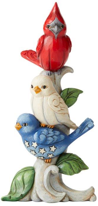 Jim Shore 6006441 Red White and Blue Bird Figurine
