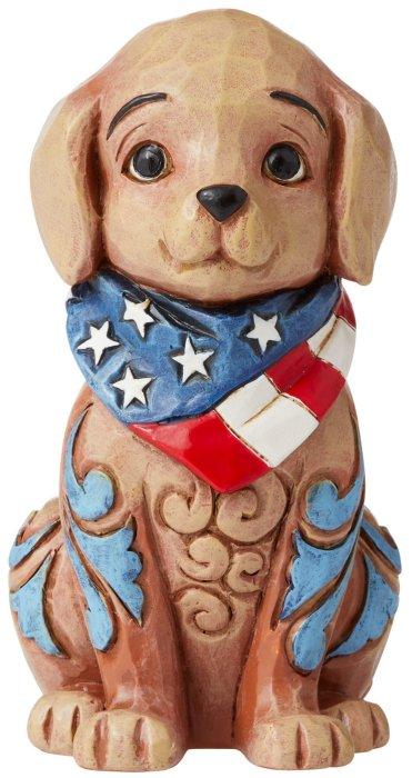 Jim Shore 6006442 Mini Patriotic Puppy Figurine