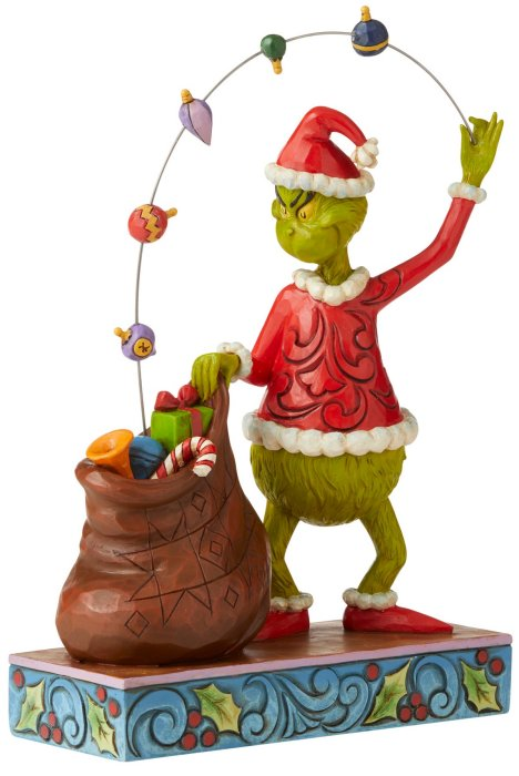 Jim Shore Grinch 6006568 Grinch Juggling Gifts Into Bag Figurine