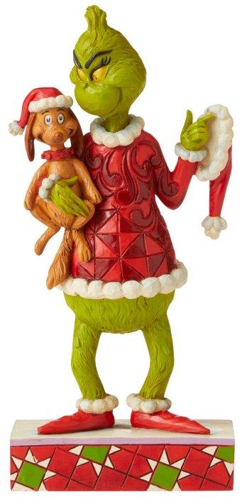 Jim Shore Grinch 6006570 Grinch Holding Max Figurine