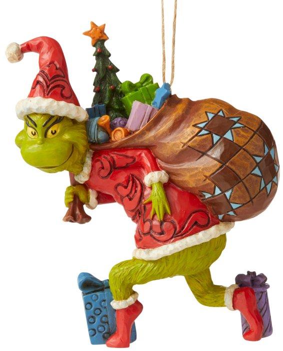Jim Shore Grinch 6006572 Grinch Tiptoeing Ornament
