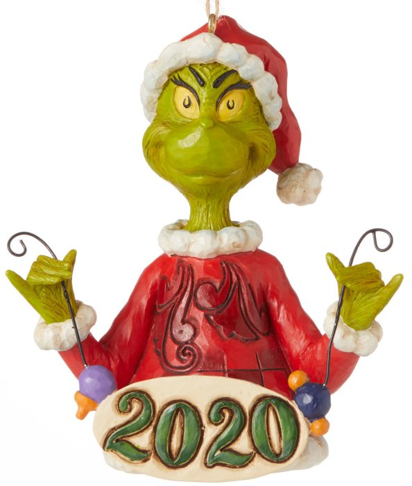 Jim Shore Grinch 6006573 Grinch Holding String Ornament