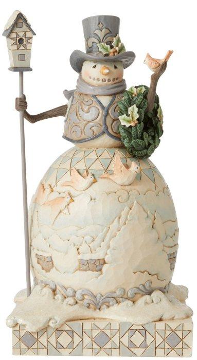 Jim Shore 6006577 Woodland Snowman and Car Figurine