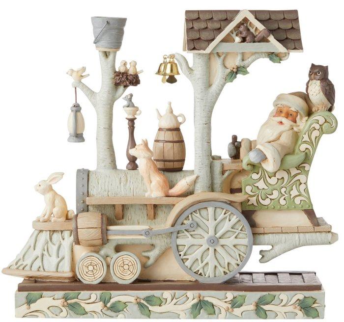 Jim Shore 6006580 Woodland Santa In Train Figurine
