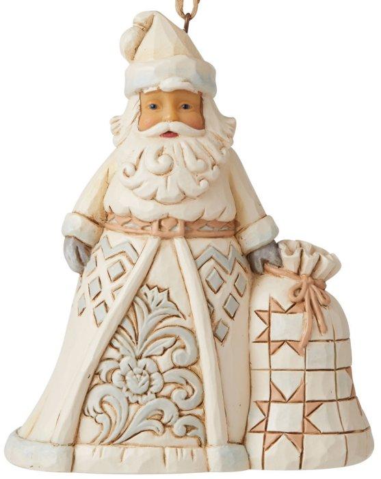 Jim Shore 6006586 Woodland Santa and Toybag Ornament