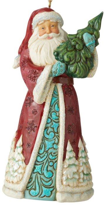 Jim Shore 6006608 Wonderland Santa Hanging Ornament