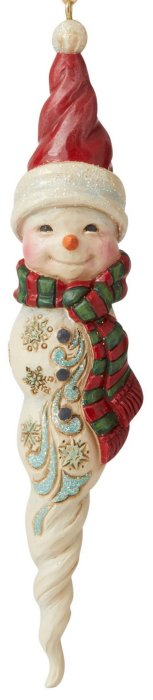 Jim Shore 6006609 Wonderland Snowman Icicle Ornament