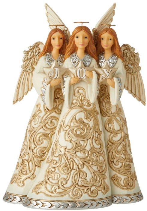 Jim Shore 6006611 Holiday Lustre Angels Figurine