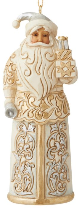 Jim Shore 6006618 Holiday Lustre Santa Ornament