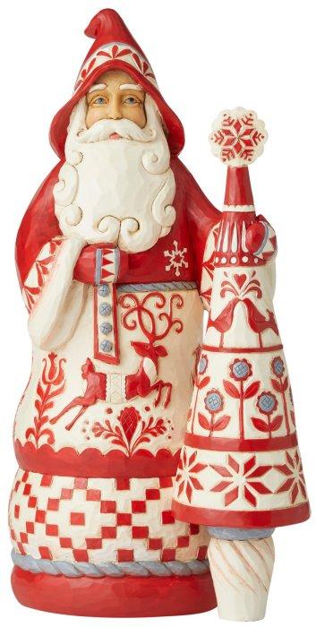 Jim Shore 6006619 Nordic Noel Santa Figurine