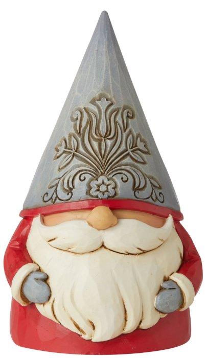 Jim Shore 6006625N Gray Floral Hat Gnome Figurine