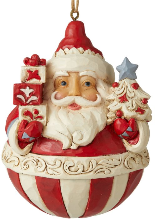 Jim Shore 6006628 Nordic Noel Santa Ornament