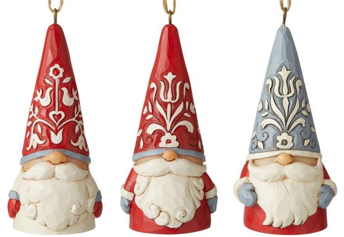 Jim Shore 6006629N Nordic Noel Set of 3 Gnome Ornaments
