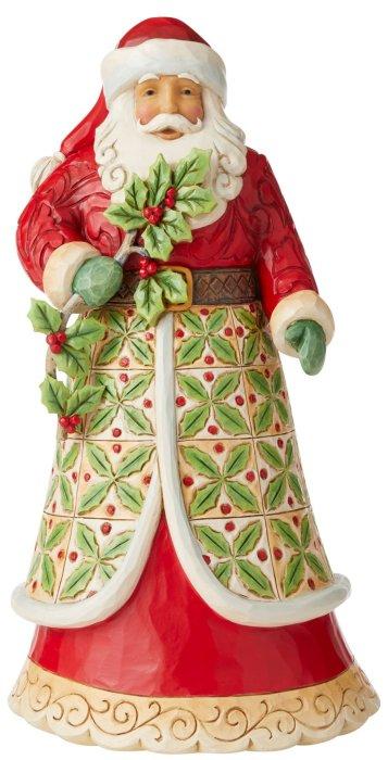 Jim Shore 6006639 Santa with Holly Figurine