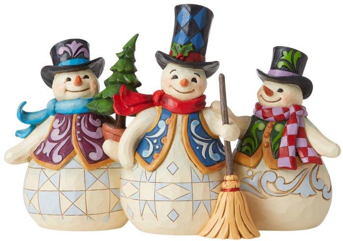 Jim Shore 6006647 Three Snowmen Figurine