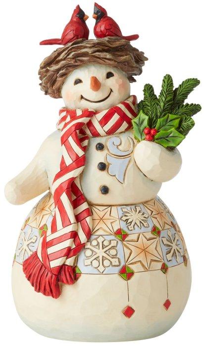Jim Shore 6006648 Snowman Cardinal Figurine