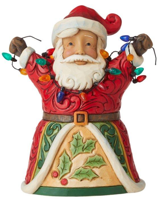 Jim Shore 6006655 Jolly Santa and Light Figurine