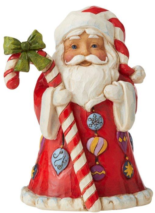 Jim Shore 6006662 Santa with Candy Cane Figurine