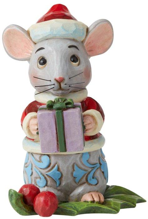 Jim Shore 6006663 Christmas Mouse Mini Figurine