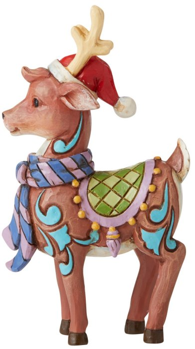 Jim Shore 6006664 Reindeer Mini Figurine