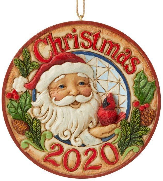 Jim Shore 6006665 Santa and Cardinal Hanging Ornament