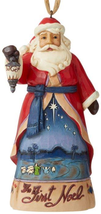 Jim Shore 6006666 The First Noel Santa Hanging Ornament