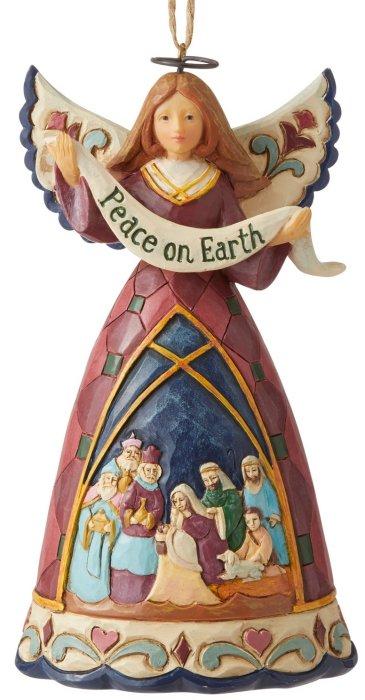 Jim Shore 6006682 Nativity Angel Hanging Ornament
