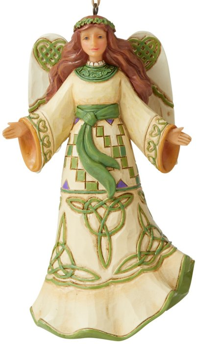 Jim Shore 6006683 Irish Angel Hanging Ornament