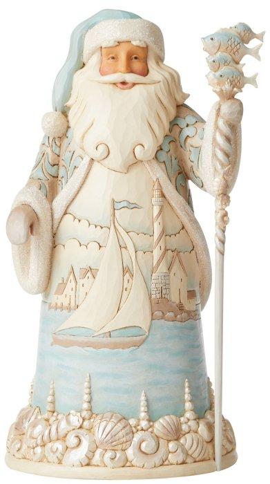 Jim Shore 6006687 Coastal Santa Figurine