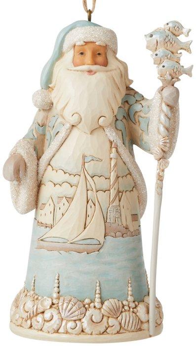 Jim Shore 6006692 Coastal Santa Hanging Ornament