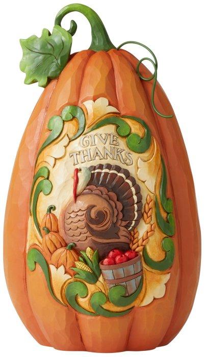 Jim Shore 6006693 Give Thanks Pumpkin Figurine