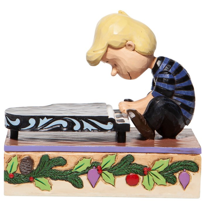 Jim Shore Peanuts 6006933 Schroeder w-Musical Piano Figurine