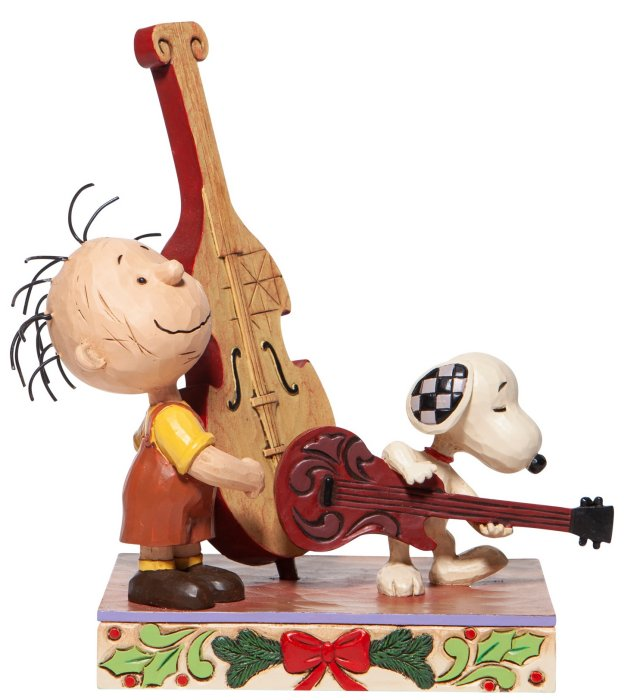 Jim Shore Peanuts 6006934 Snoopy and Pigpen Playing Music Figurine