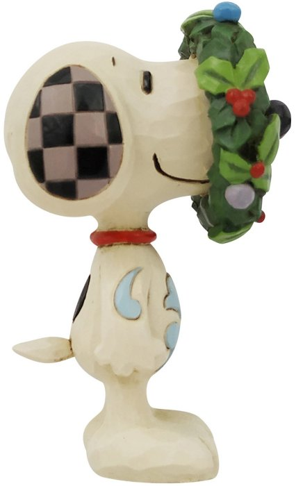 Jim Shore Peanuts 6006941 Mini Snoopy in Wreath Figurine