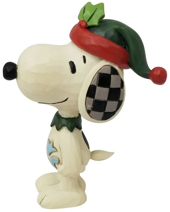 Jim Shore Peanuts 6006942 Mini Snoopy Elf Figurine