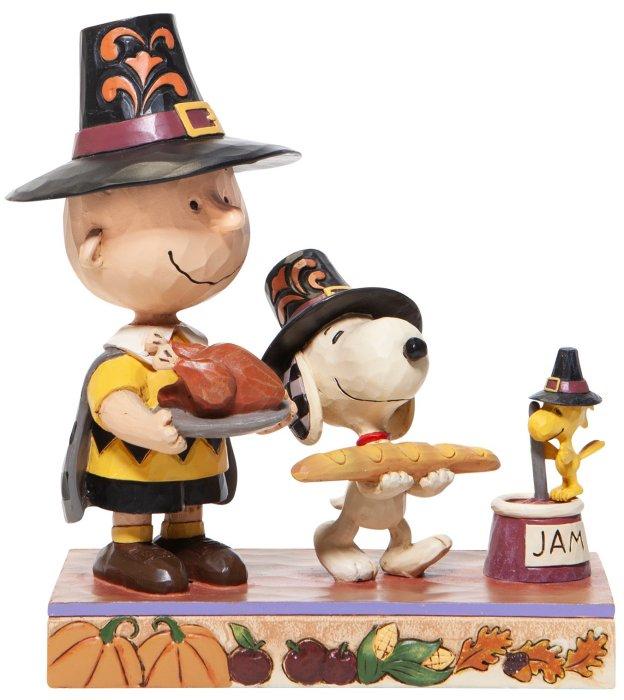 Jim Shore Peanuts 6006943 Thanksgiving Charlie Brown Figurine